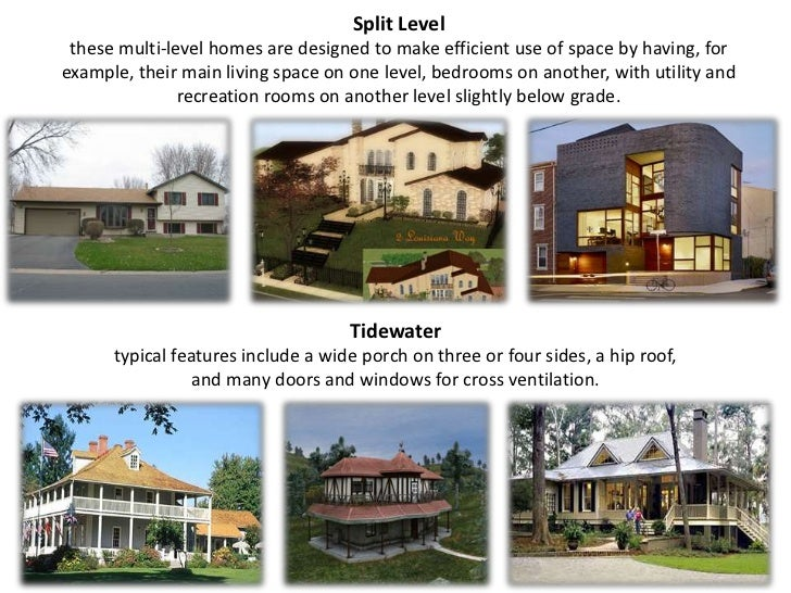 Types of house Types of split level homes