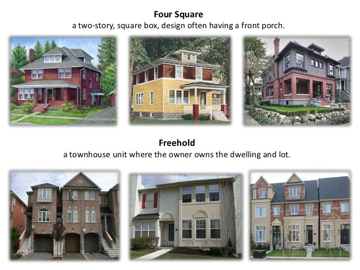 Types of house Styles of houses