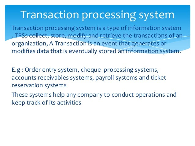 types of information system pdf