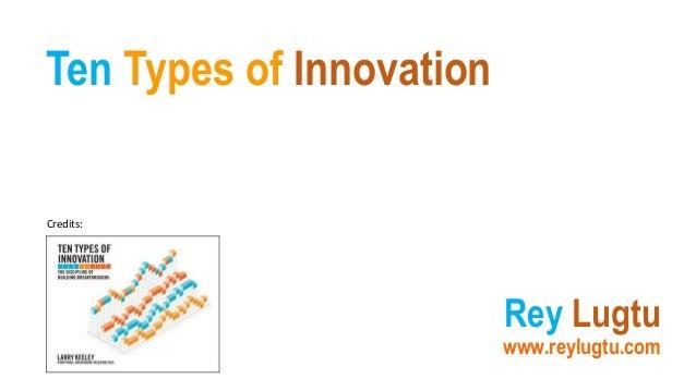 Ten Types of Innovation Rey Lugtu www.reylugtu.com Credits: