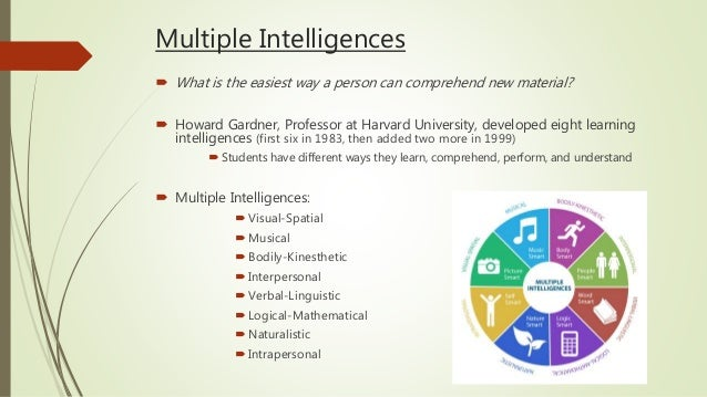 Theory of multiple intelligences adult learning