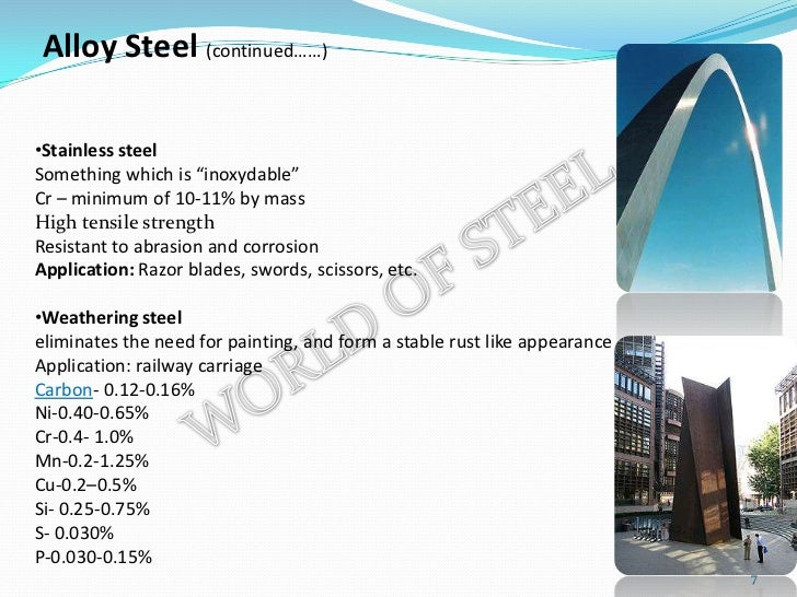 Types of iron and steel
