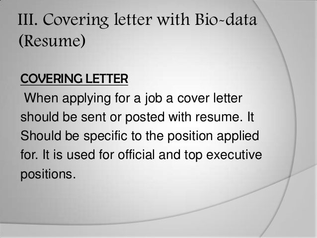 what is a cover letter used for
