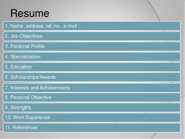 Types of job application letter