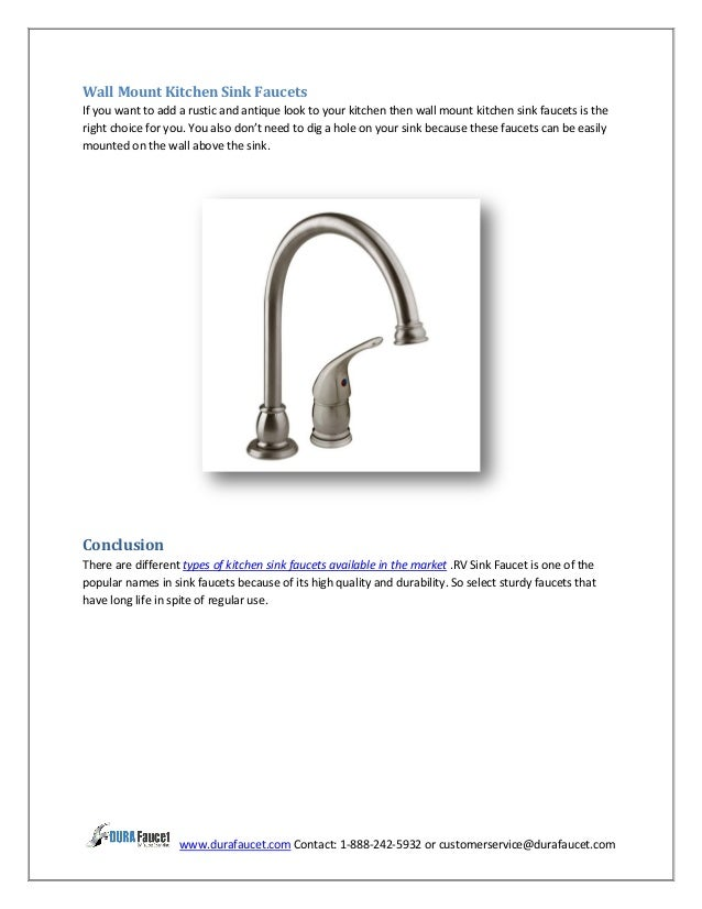 These Faucets Can Also Add Classic And Traditional Look To Your Kitchen; 4.  ...