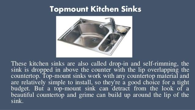 6 topmount kitchen sinks