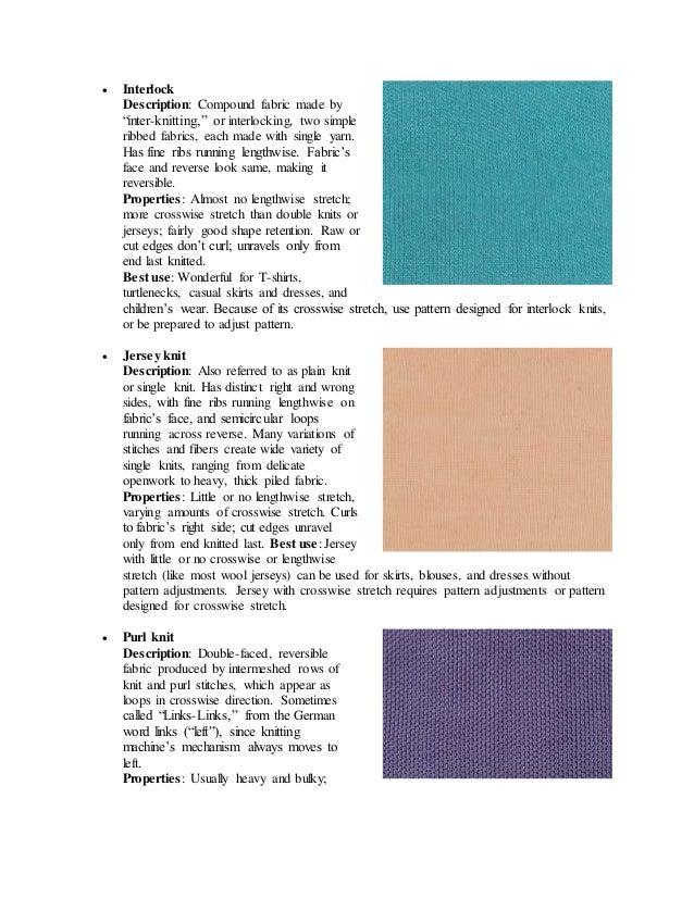 Types Of Knitted Fabric