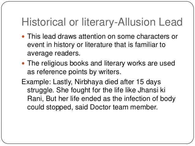 Historical Allusion Examples In Literature Choice Image Example