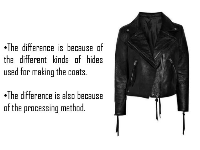 Types of leather used for making jackets