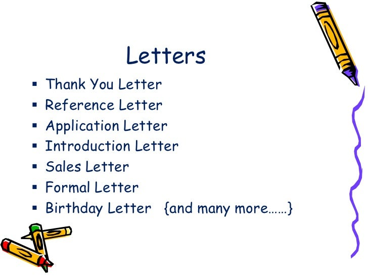 Type Of Letters Writing Types Of Letters