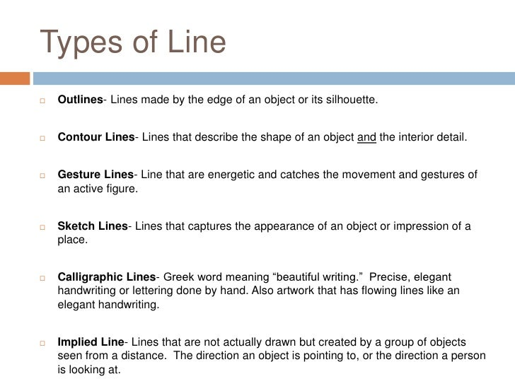 Different Types Of Lines In Art Drawing : Types of line