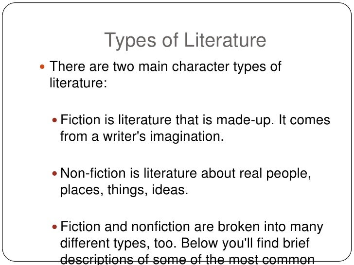 Kinds of Literature