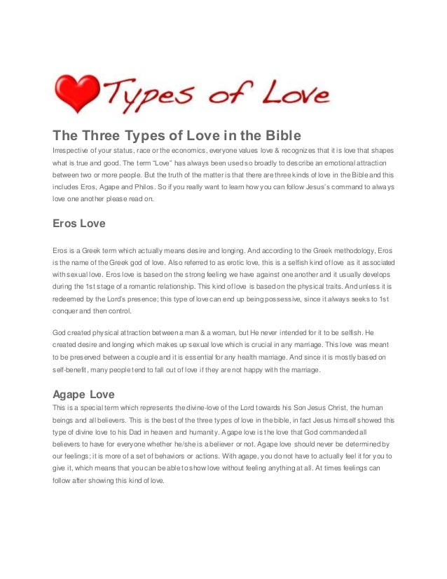 3 Kinds Of Love In The Bible