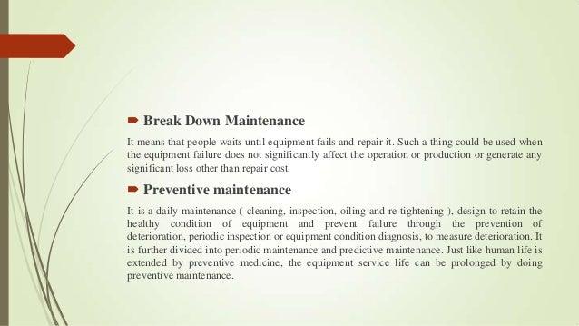 Types of maintenance