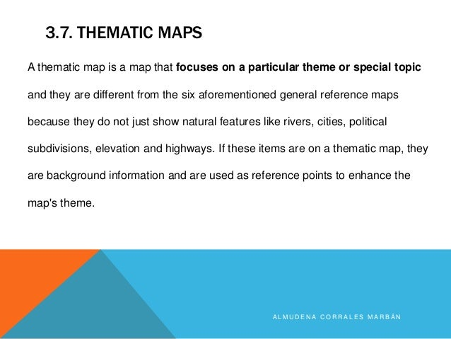 Types Of Maps - What do thematic maps show us