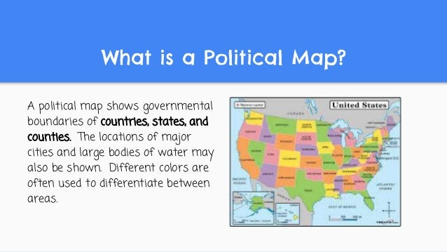 Kinds Of Maps USA States Map Collections - What is a political map