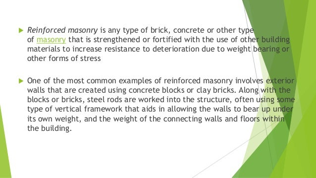 Types of masonry walls