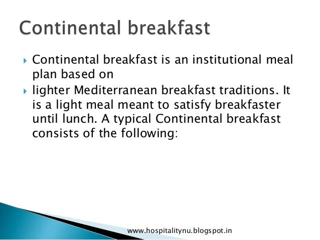 Types of meals ppt.
