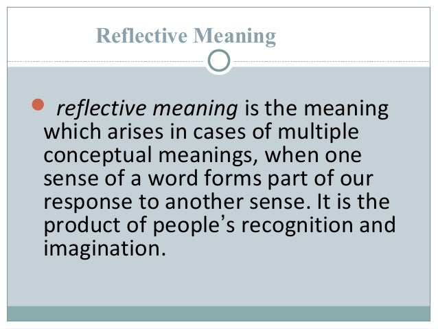 types of meaning in english