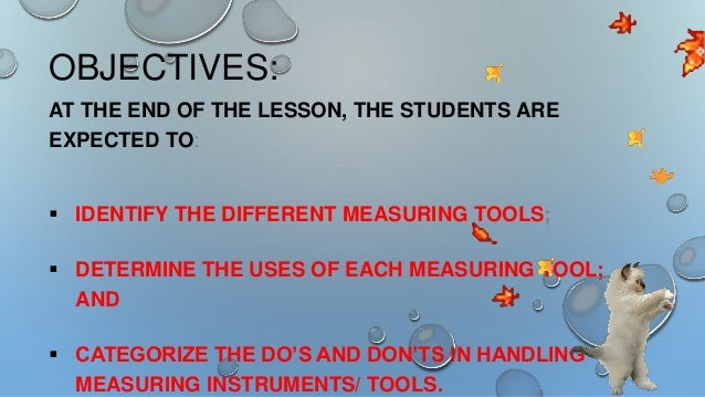 Types Of Measuring Tools For Grade 8 Tle Presentation Owned By Alge