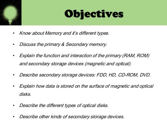 1 what is primary memory what are the characteristics of primary memory Would you like to know all about the 2 memory types what are the characteristics and operations of short-term and long-term memory  your primary email address .