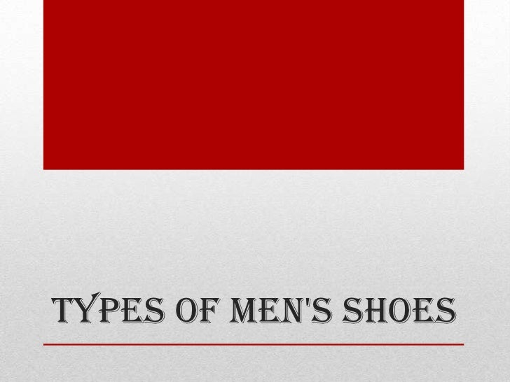 Types of Mens Shoes
