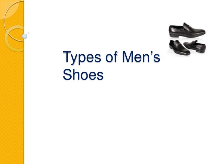 Types of Men'sShoes