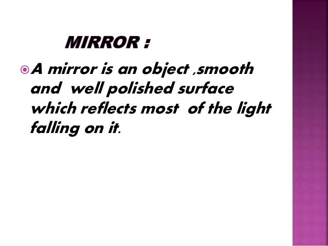 Types of mirrors Slide 2
