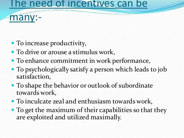 types of incentives 17 types of incentive plans information, ideas and tips finding a way to incentivize your employees to maintain good quality and great efficiencies in their work can.