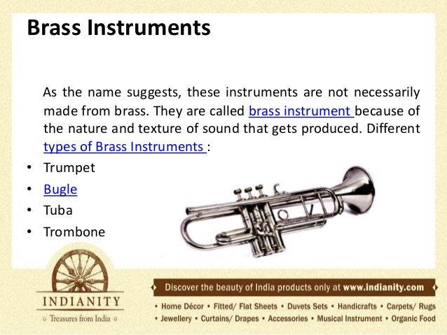 types of musical instruments Keep learning how do brass instruments make sound what type of products are available at musical instrument stores what is a buffet clarinet.
