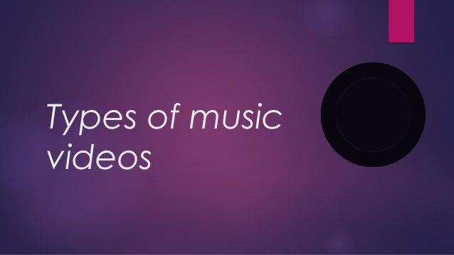 Types of music videos