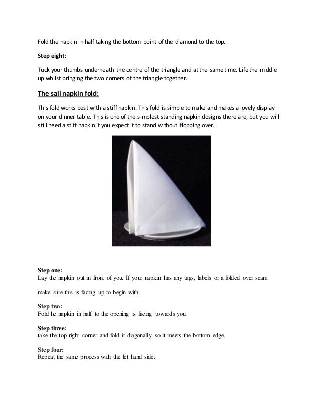 Types Of Napkins