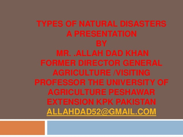 List Of Diseases Caused By Natural Disasters