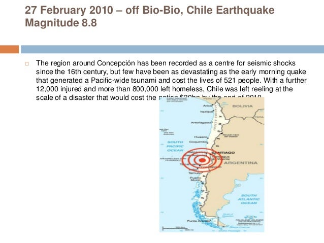 List Of Natural Disasters In Chile