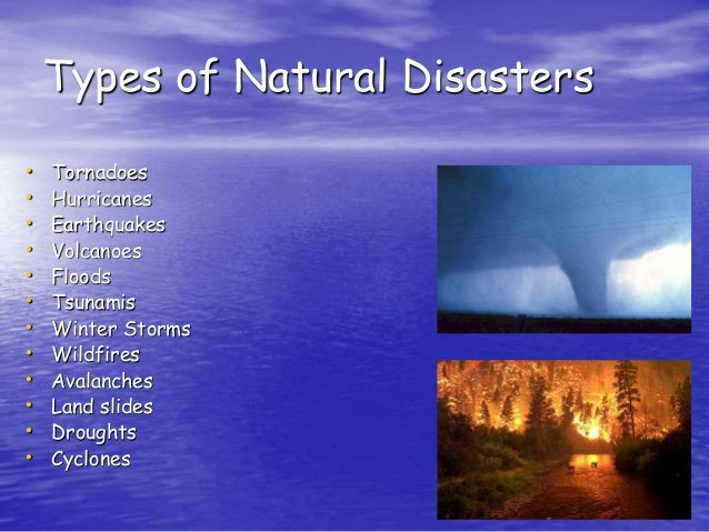 List Of All Types Of Natural Disasters