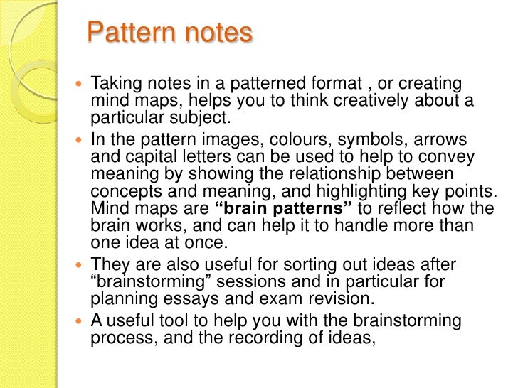 Types of notes