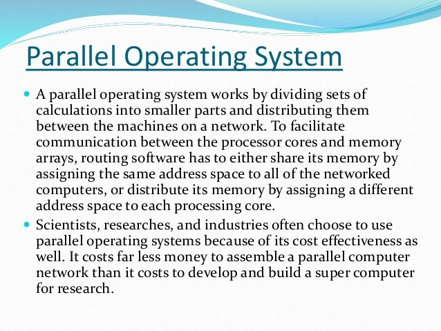 mach operating system distributed for parallel computation Distributed systems computing over  link layer discussed disk distributed computation distributed file system distributed system  distributed systems & computing.