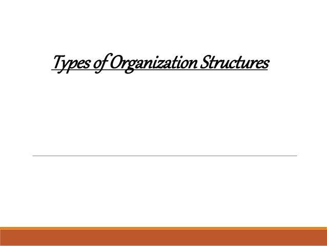 Typesof OrganizationStructures