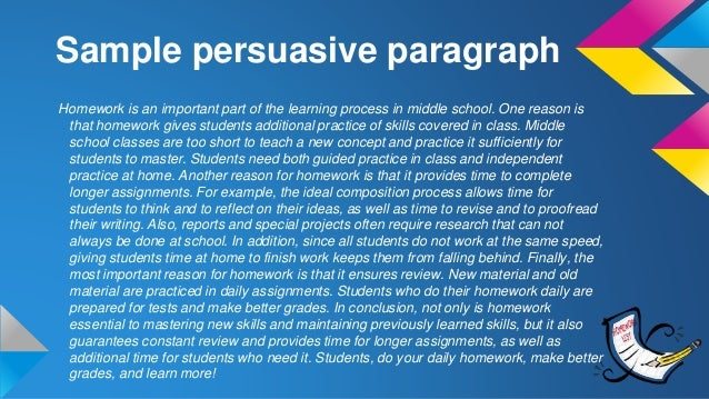 argumentative paragraph writing