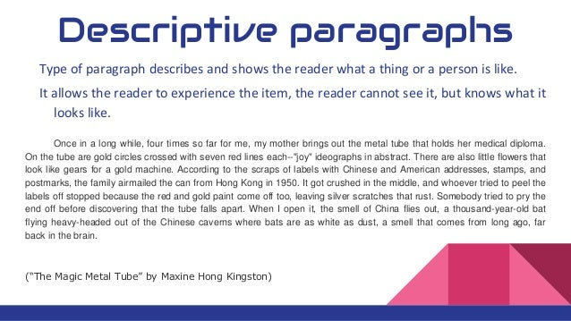 4 kinds of paragraph
