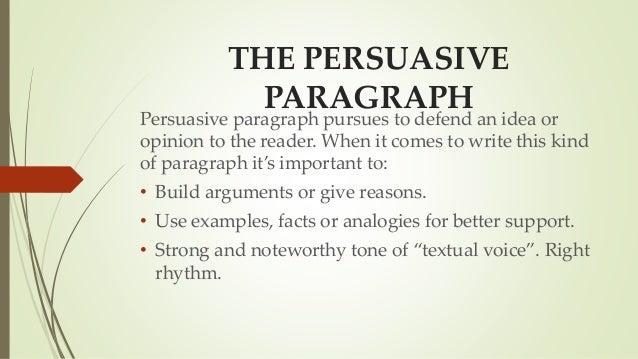 Types of paragraphs teoría disc.