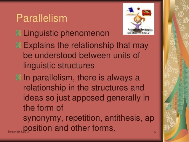 difference between parallelism antithesis