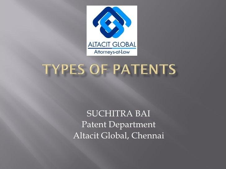 SUCHITRA BAI Patent Department Altacit Global, Chennai
