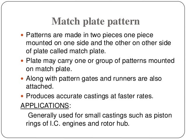 TYPES OF PATTERN AND ITS APPLICATION
