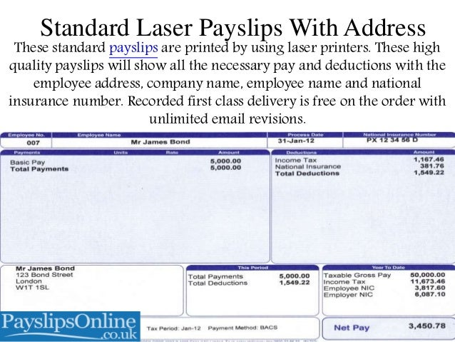Types of Payslips Available Online in UK