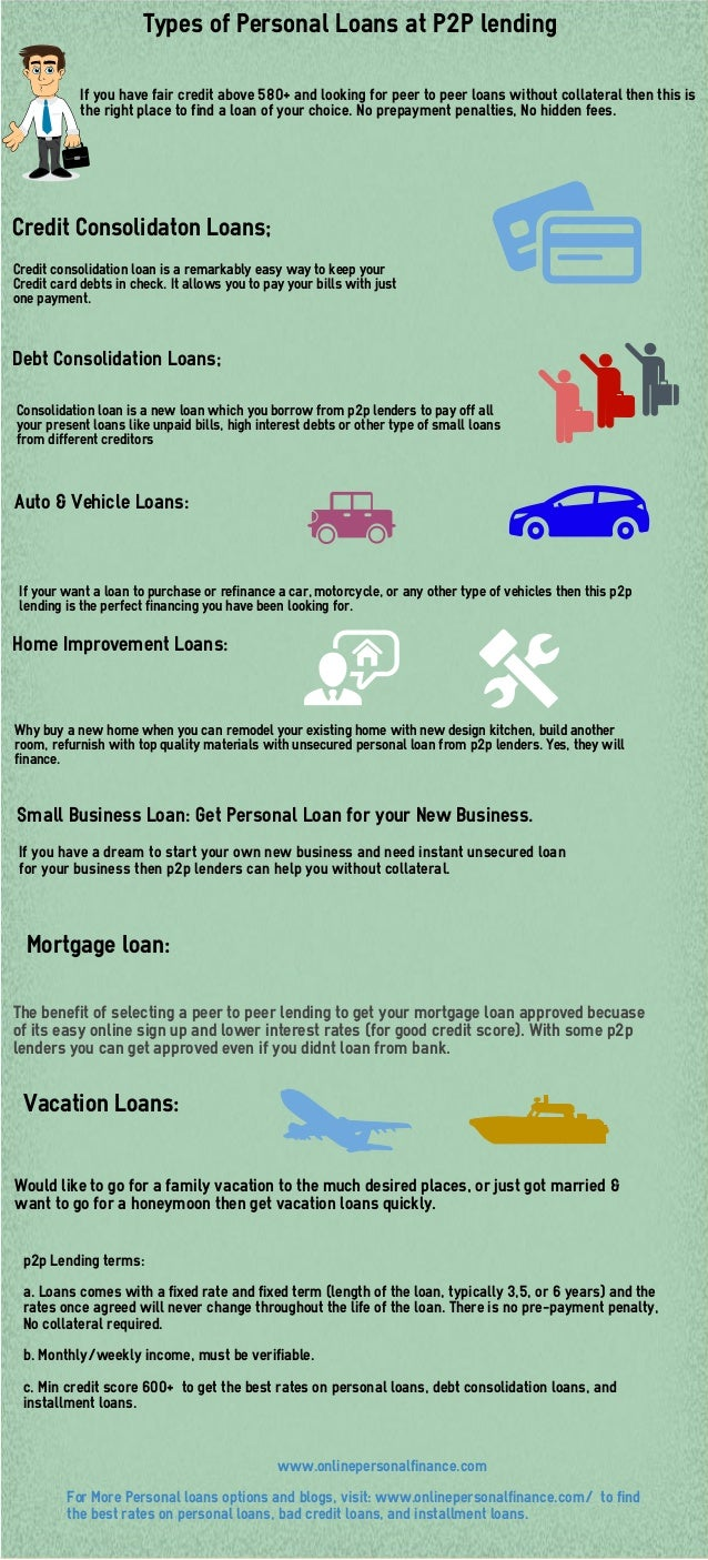 Personal Loans 600 Credit Score >> Types Of Personal Loans At P2p Lending