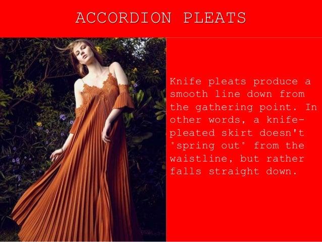 types of pleats