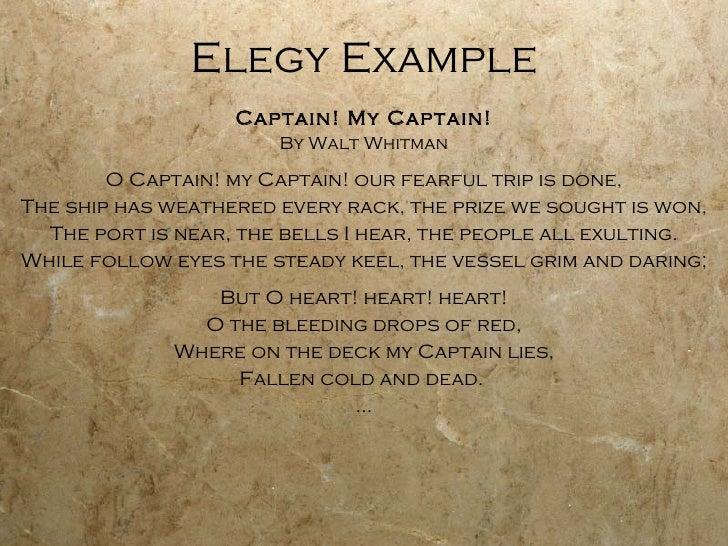 elegy poem examples - photo #2