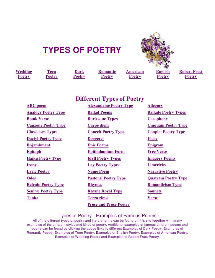 Lyric Poetry: Types and Examples