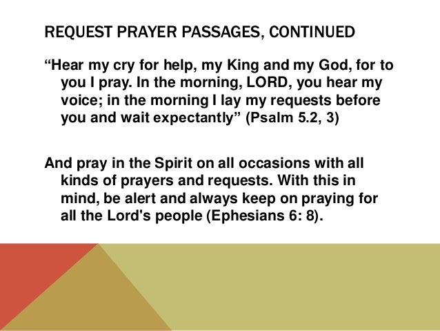 Types of prayer – part one, requests